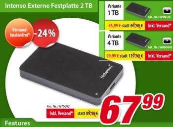 Völkner: Externe 2,5-Zoll-Festplatte mit vier TByte für 99,99 Euro frei Haus