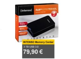 Allyouneed: Intenso Memory Center mit drei TByte für 79,90 Euro frei Haus