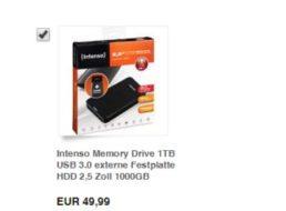 Ebay: Intenso Memory Drive mit einem TByte für 49,99 Euro frei Haus