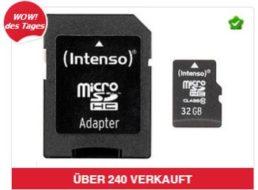 Intenso: Micro-SDHC-Speicherkarte mit 32 GByte für 11,99 Euro frei Haus