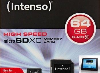 Ebay: Intenso Micro-SDXC-Speicherkarte für 13,99 Euro frei Haus