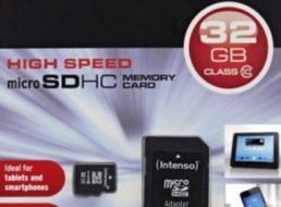 Ebay: Intenso SDHC-Card mit 32 GByte für 8,88 Euro frei Haus
