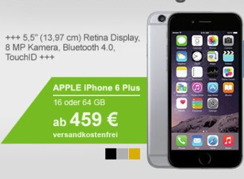 Allyouneed: iPhone 6 Plus als B-Ware für 459 Euro frei Haus