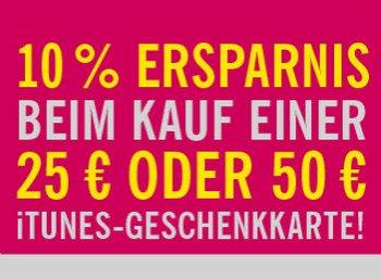 Lidl: Zehn Prozent Rabatt auf iTunes-Karten bis Samstag