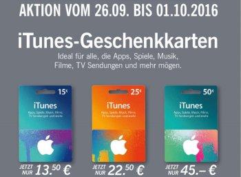 Lidl: iTunes-Rabatt von zehn Prozent in der letzten Septemberwoche