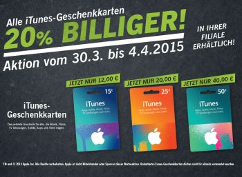 iTunes-Rabatt Lidl März-April 2015