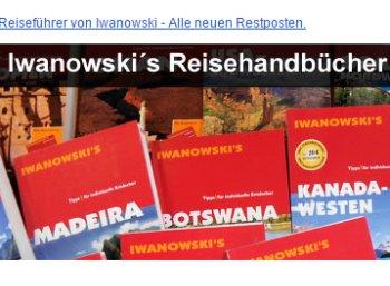Terrashop: Iwanowski Reiseführer mit teils über 50 Prozent Rabatt