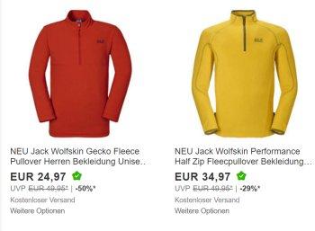 Ebay: Jack Wolfskin, Regatta & Co. im Sonderverkauf