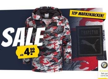 Sportspar: Jacken-Sale mit Markenjacken ab 4,95 Euro