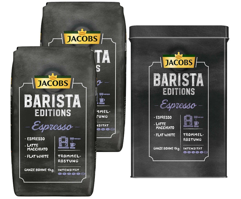 Ebay: Zwei Kilo Kaffeebohnen von Jacobs mit Aludose für 19,98 Euro frei Haus