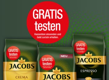 Gratis: Jacobs Expertenröstung dank Cashback zum Nulltarif