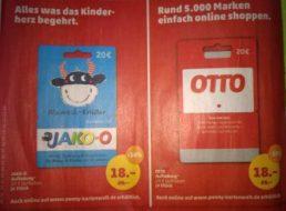 Penny: Guthabenkarten für Jako-O und Otto mit 10 Prozent Rabatt