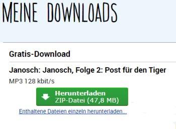 """Gratis: Janosch-Hörbuch """"Post für den Tiger"""" zum Nulltarif"""