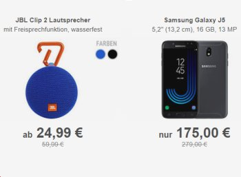 """Allyouneed: Wasserfester Bluietooth-Lautsprecher """"JBL Clip 2"""" für 24,99 Euro frei Haus"""