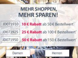 Jeans Direct: 50 Euro Rabatt und Gratis-Versand für einen Tag