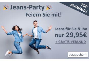 Jeans Direct: Markenjeans für 29,95 Euro frei Haus