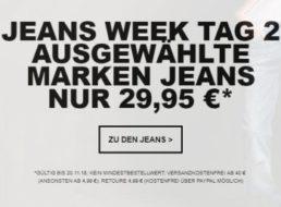 Jeans Direct: Markenjeans von Mustang, Wrangler und Lee für pauschal 29,95 Euro