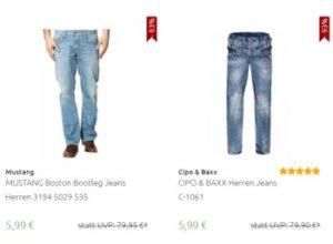Outlet46: Jeans von Mustang, Lee, Wrangler und anderen ab 5,99 Euro