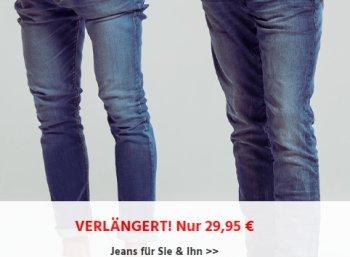 Jeans Direct: Zahlreiche Markenmodelle zum Pauschalpreis von 29,95 Euro