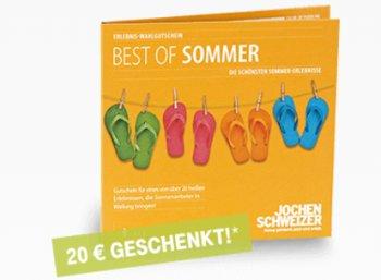"""Jochen Schweizer: """"Best of Summer""""-Gutschein mit 20 Euro Rabatt für Telekom-Kunden"""