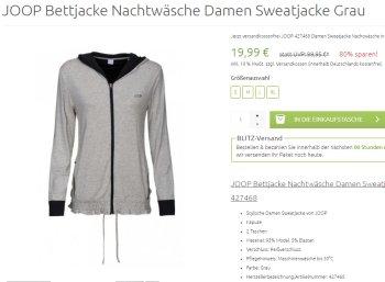Joop: Damen-Sweatjacke für 19,99 Euro frei Haus