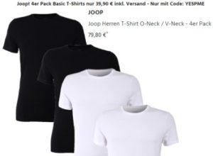 Joop: Viererpack T-Shirts für 39,90 Euro inklusive Versand (Bild: Jeans Direct)