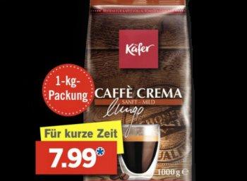 Lidl: Kilo-Packung Käfer-Kaffee am Super-Samstag für 7,99 Euro