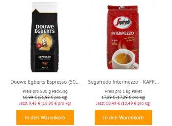 Kaffeevorteil: 3 Kilo Kaffeebohnen unter 30 Euro frei Haus