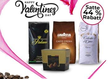 Kaffeevorteil: Drei Kilo Kaffee und belgische Trüffelschokolade für 35,94 Euro