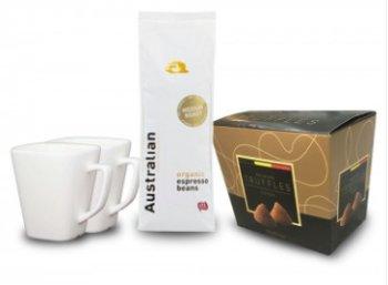 Kaffeevorteil.de: Geschenkbox Weihnachten mit Pralinen und Tassen für 19,99 Euro