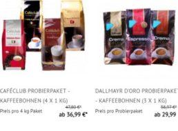 Kaffeevorteil: Reduzierte Probierpakete nochmals 15 Prozent billiger