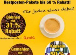 Kaffeevorteil: Restposten mit vier Kilo Kaffee für 34,95 Euro frei Haus