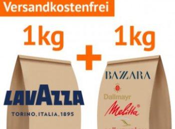 Kaffevorteil: Zwei Kilo Bohnen namhafter Hersteller für 19,50 Euro frei Haus