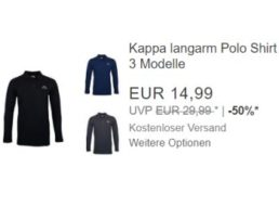 Kappa: Langarm-Poloshirt für 14,99 Euro frei Haus