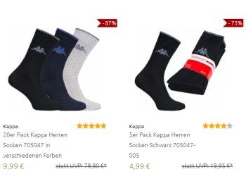 Kappa: 20 Paar Socken für 9,99 Euro frei Haus
