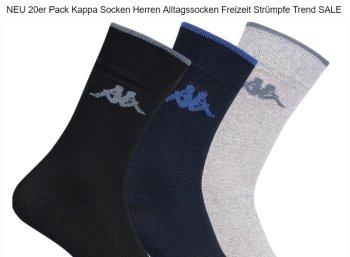 Kappa: Socken im 20er-Pack für 17,99 Euro frei Haus via Ebay