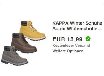 Kappa: Winterstiefel für 15,99 Euro frei Haus