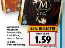 Kaufland: Magnum im Viererpack für 1,59 Euro ab 19. März
