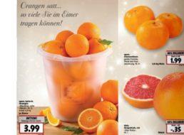 """Kaufland: Eimer Orangen """"so viel Sie tragen können"""" für 3,99 Euro"""