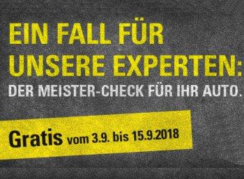Gratis: KfZ-Check bei Vergölst zum Nulltarif bis zum 15. September 2018