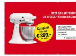 Focus: 26 Ausgaben inklusive KitchenAid Classic für zusammen 299 Euro