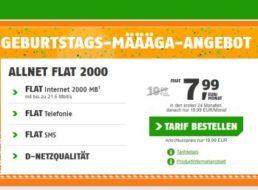 Klarmobil: Allnet-Flat, SMS-Flat & zwei GByte Daten für 7,99 Euro