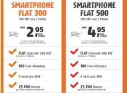 Klarmobil: 300 MByte und 100 Freiminuten im D-Netz für 2,95 Euro pro Monat