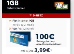 Gratis: Holidaycheck-Gutschein über 100 Euro zur GByte-Flat für 3,99 Euro