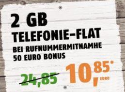 Klarmobil: Datenflat im Vodafone-Netz 42,2 MBit und Allnet-Flat für 10,85 Euro