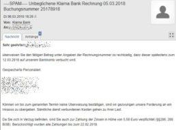 Warnung: Angebliche Klarna-Mails mit Schadsoftware unterwegs