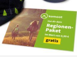 """Gratis: Regionenpaket für Outdoor-App """"komoot"""" im Wert von 8,99 Euro"""