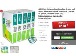 Dealclub: 2500 Blatt Kopierpapier als B-Ware für 17,50 Euro