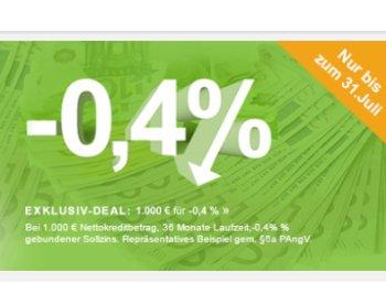 Smawa: Erstmals Kredit mit negativen Zinsen - 6,30 Euro geschenkt