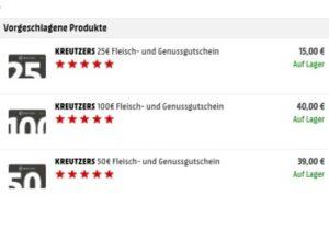 Mediamarkt: 60 Euro Gourmet-Rabatt bei Kreutzers via Gutschein